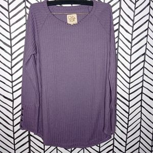 Chaser Waffle Knit Tee Henley